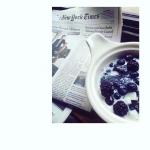 Dessert du jour de notre globe trotteuse @debogut 💥 : Chia Pudding // Almond Milk // Myrtilles // No sugar Recettes et articles sur mon site internet : lgiami-dieteticienne.fr
